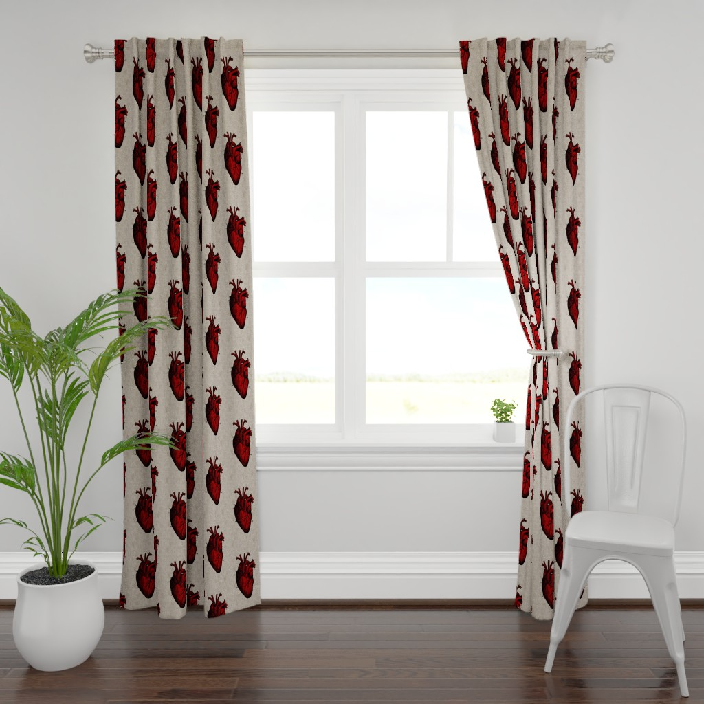 Plymouth Curtain Panel featuring Human Heart by mandamacabre