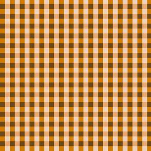 Orange Brown Gingham
