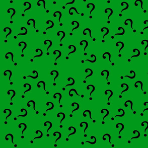 question in green