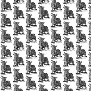 Pembroke Welsh Corgi sketch - black/white