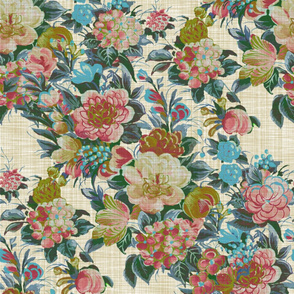 Mid Century Modern ~ Flower Cocktail ~  Ellen Linen Luxe