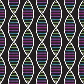 DNA Strands (Dark Rainbow Pastel)