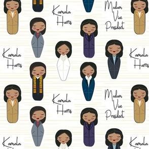 Kamala Harris- Madam Vice President Medium Scale 2 inch © Jennifer Garrett