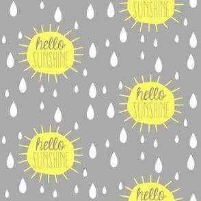 Hello Sunshine Rain Drops