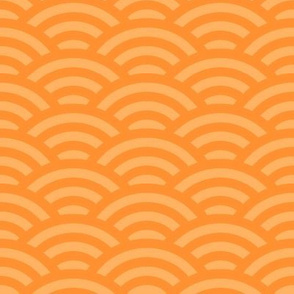 goldfish scales - golden orange