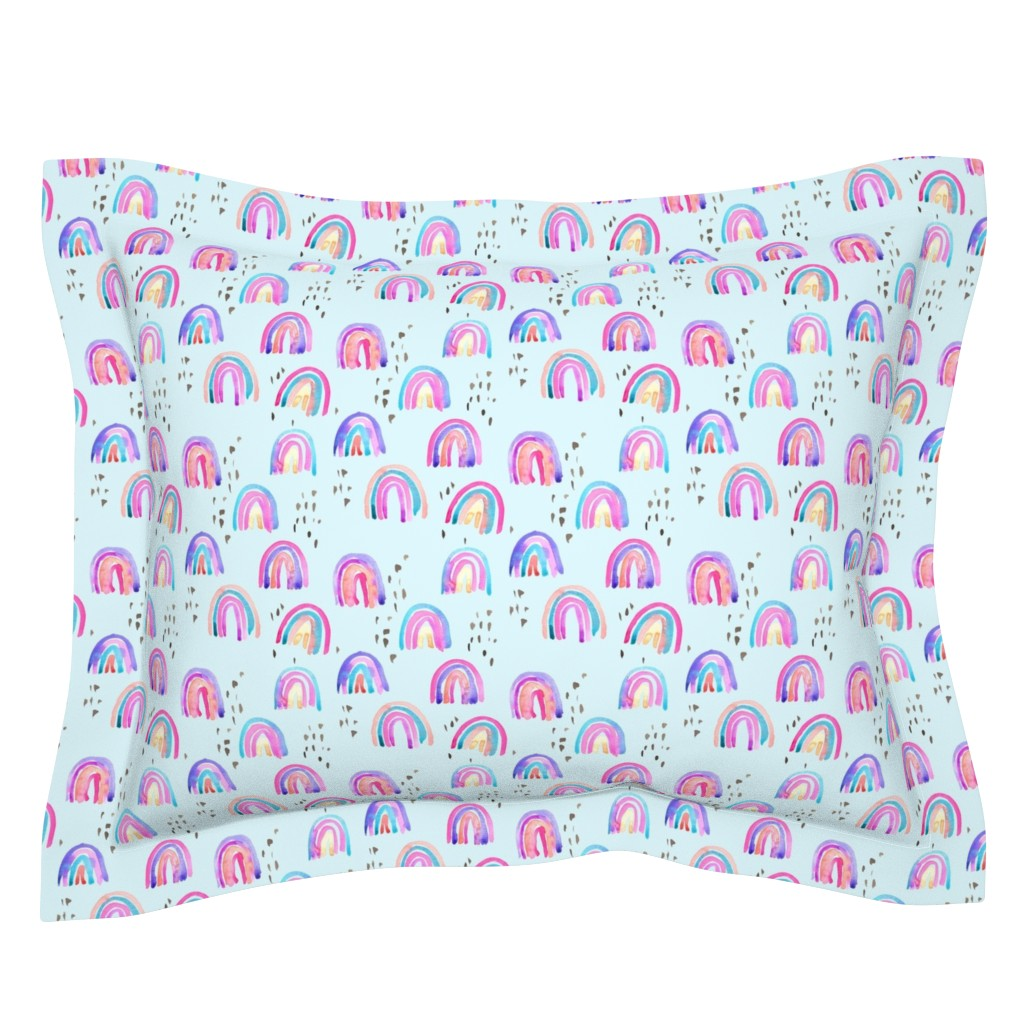 Sebright Pillow Sham featuring rainbows in the sky by erinanne