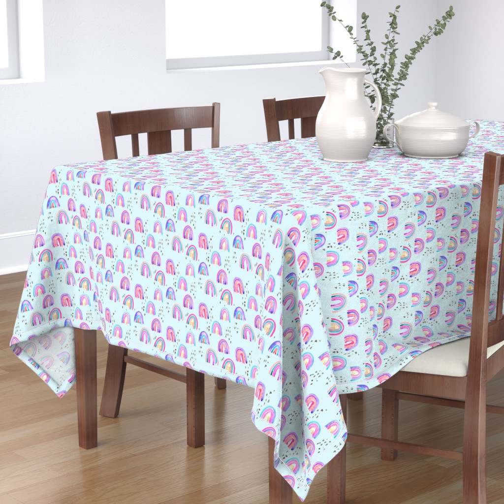 Bantam Rectangular Tablecloth featuring rainbows in the sky by erinanne