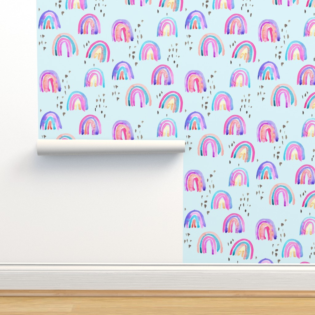 Isobar Durable Wallpaper featuring rainbows in the sky by erinanne