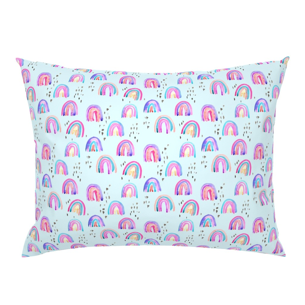 Campine Pillow Sham featuring rainbows in the sky by erinanne