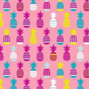 Hot summer pineapple fruit tropical trendy pineapples print for girls