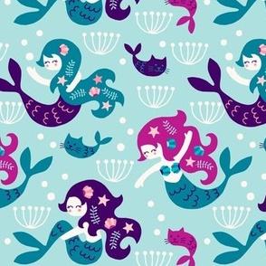 Mermaids in purple