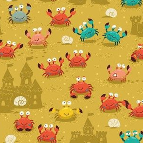 crabs in the sandcastles