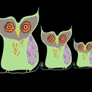 Mosaic Owls Bright