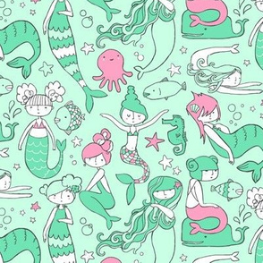 Watergirls (Mint/Pink) SMALL