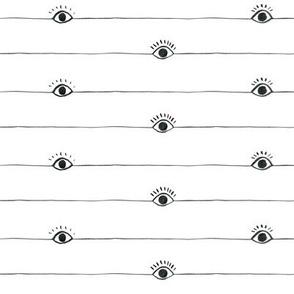 Eyeball with half lashes