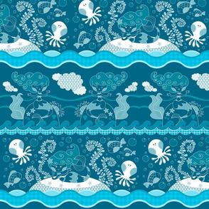 blue mermaids