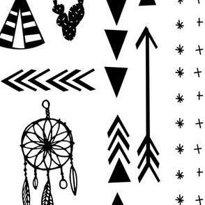 southwest black and white