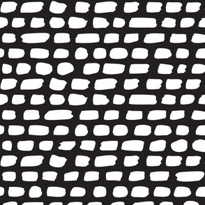 Black and white abstract stripes and strokes organic trendy gender neutral geometric grunge brush print
