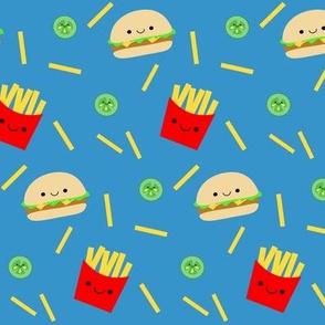 Happy Hamburger and Fries
