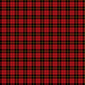 "Wallace clan tartan, small 0.8"" repeat"