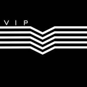VIP Black Lettered