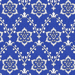 Medieval Deck Fabric Blue