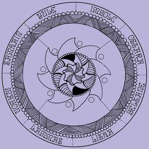 Lavendar Wheel of the Year