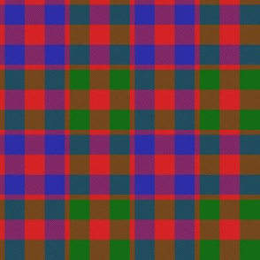 "Gow or MacGowan tartan, 4"" modern colors"
