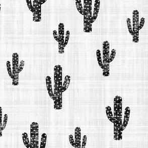 Black & White Cactus - Texture