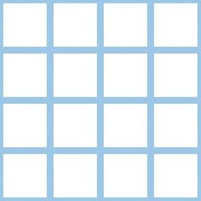 Grid Blue on White