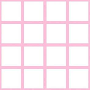 Grid Pink on White