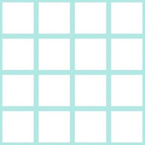 Grid Mint on White
