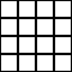 Grid Black on White