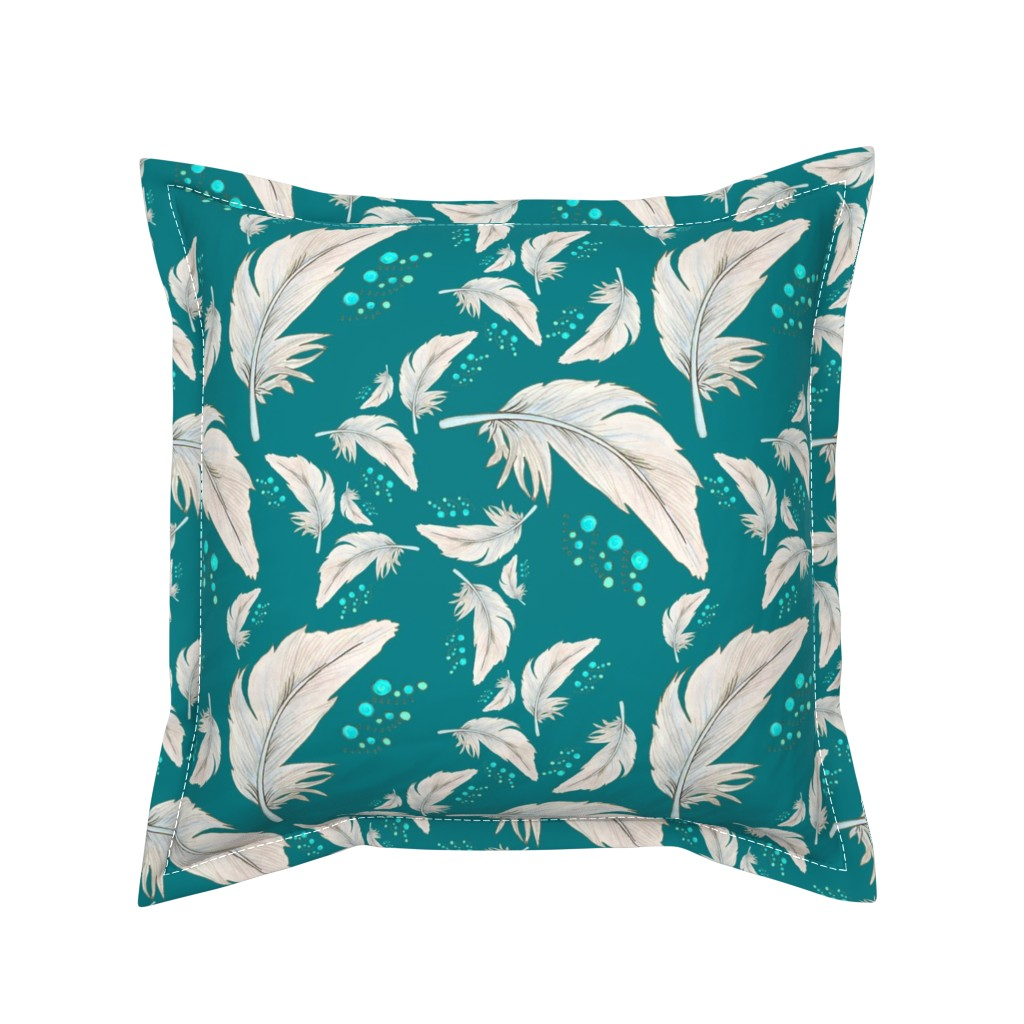 Serama Throw Pillow featuring Seaside_Flight by christinemay