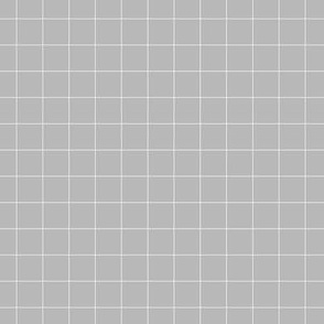 white grid on medium grey | pencilmeinstationery.com