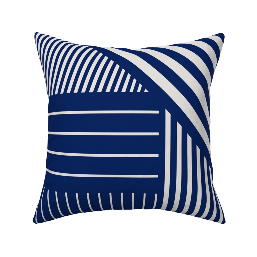 Catalan Throw Pillow featuring Blue stripes by flowie