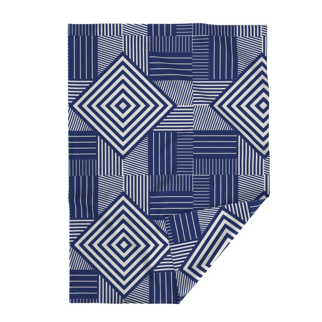 Lakenvelder Throw Blanket featuring Blue stripes by flowie