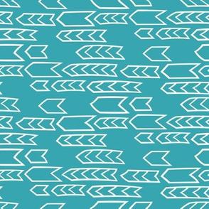 Geo Row - blue/white