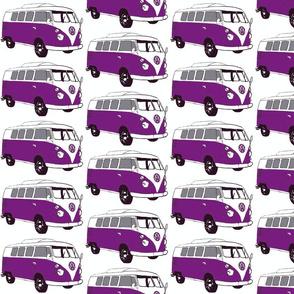 purple bus
