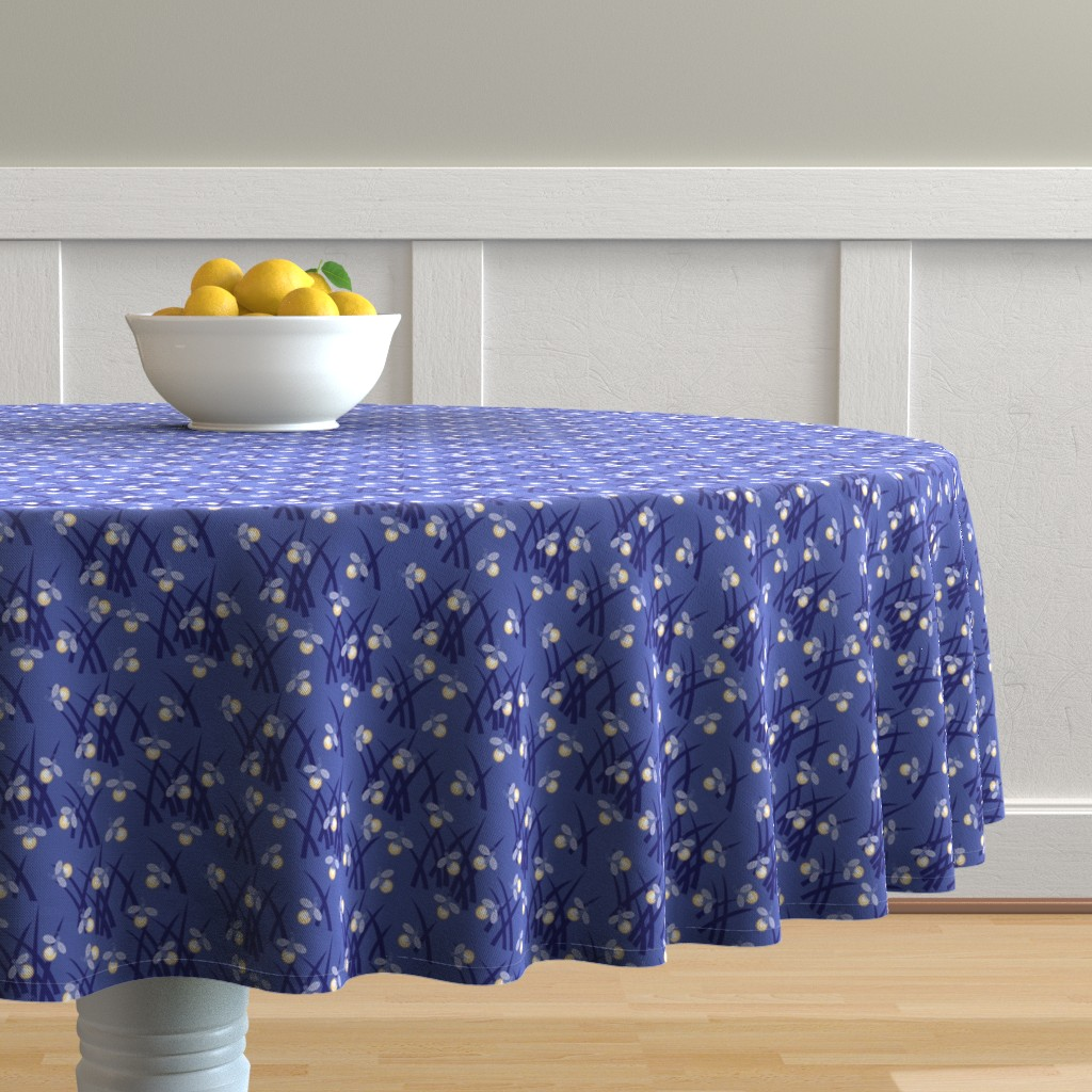 Malay Round Tablecloth featuring fireflies by cindylindgren