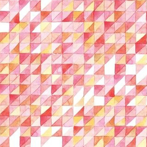 Watercolor Triangle Grid | Pink