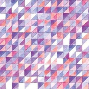 Watercolor Triangle Grid | Purple