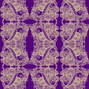 Tangle in Purple & Yellow