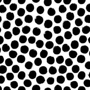 Polka Dots small – black white