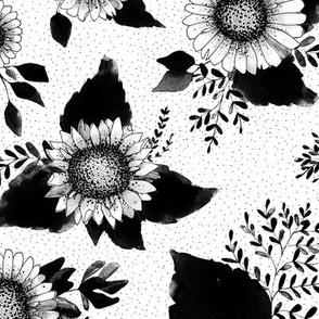 Blossom – black white