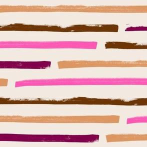 Stripes horizontal – pink caramel