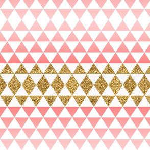 Ombre Glitter Triangles in Coral