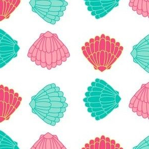 Seashells Squared - Summer Daydream - © PinkSodaPop 4ComputerHeaven.com