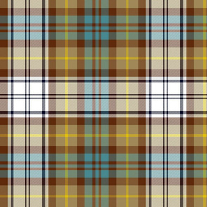 "Gordon Dress tartan, 12"" weathered"