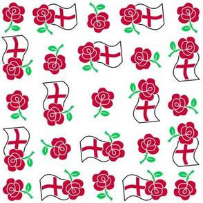 Rose and England flag